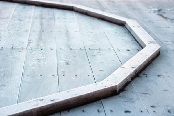 ひのき材の台輪