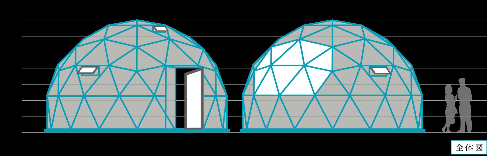 宙のドーム全体図